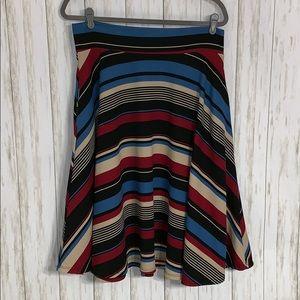 Size XL Agnes & Dora Striped A-Line  Skirt